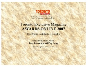 Toronto Exclusive Magazine Award 2007